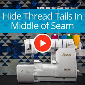 Hiding a Thread Tail in the Middle of a Seam