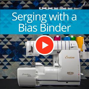 Serging with a Bias Binder | Baby Lock Serger