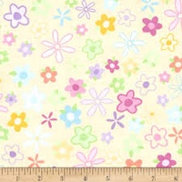 Quilting Treasures Tutu Cute Pale Yellow
