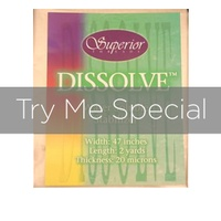 Regular Dissolve Water Soluble Stabilizer Try Me Special 1 Yd.