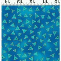 Clothworks Laurel Burch Basic Metallic Dark Aqua