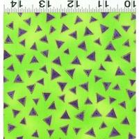 Clothworks Laurel Burch Basic Metallic Lime