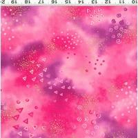Clothworks Basic Glitter Light Raspberry