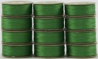 SuperBOBs #645 Bright Green. L-style Bobbins. 1 Dz.