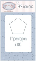 "EPP Pre-Cut Iron Ons By Hugs' N Kisses (1"" Pentagon x 100)"