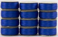 SuperBOBs #636 Bright Blue M-style Bobbins. 1 Dz.