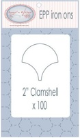"EPP Pre-Cut Iron Ons By Hugs' N Kisses (2"" Clamshell x 100)"