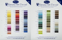 Kimono Silk Thread Color Card Set