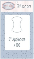 "EPP Pre-Cut Iron Ons By Hugs' N Kisses (2"" Applecore x 100)"
