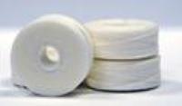 #69 Bonded Polyester Sideless M-Style Bobbins - #002 White 1 Dz.