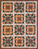 RJR Lily's Garden Quilt Kit-Orange Version