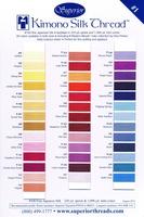 Kimono Silk Thread Color Card. Color Card #1 Of 2.