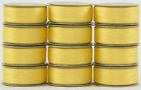 SuperBOBs #601 Yellow M-style Bobbins. 1 Dz.
