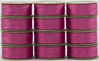 SuperBOBs #604 Dark Pink. L-style Bobbins. 1 Dz.