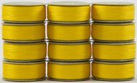 SuperBOBs #641 Bright Yellow M-style Bobbins. 1 Dz.