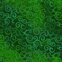 Quilting Treasures Ombre Scroll Bright Green