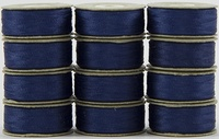 SuperBOBs #635 Medium Blue. L-style Bobbins. 1 Dz.