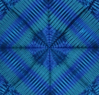 "Anthology Batiks Cube-Bori Blue 45"" Panel"