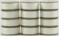 SuperBOBs #624 Natural White. L-style Bobbins. 1 Dz.