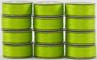 SuperBOBs #644 Lime Green L-style Bobbins. 1 Dz.
