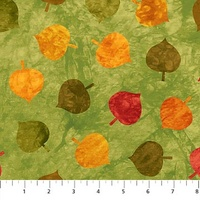 Northcott Falling Leaves Olive