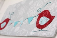 Pattern: Applique Club-Birdie Pencil Case By Hugs 'N Kisses.