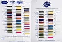 Bonded Thread Color Card Set