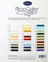 MicroQuilter Thread Color Card
