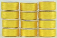 MasterPiece #126 Simply Yellow #50/2 L-style Bobbins. 1 Dz.