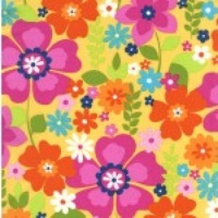 Michael Miller Flower Topia Yellow Multi