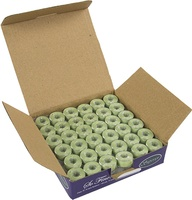 So Fine! #60 #493 Pastel Green Class 15 Plastic-sided Bobbins. 1/2 Gross.