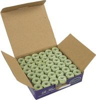 So Fine! #60 #493 Pastel Green Class 15 Plastic-sided Bobbins. 1/2 Gross.