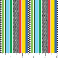 Northcott Stripe Black Multi