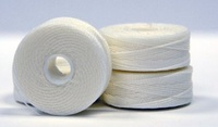#69 Bonded Nylon G-Style Bobbins - #002 White 1 Dz.