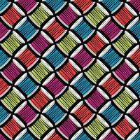 Studio e Fabrics Sew Much Fun Black Multi
