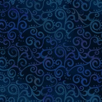 Quilting Treasures Ombre Scroll Navy