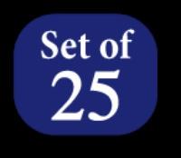 Set of 25 Colors - Superior Metallics 500 yd. spools