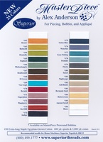 MasterPiece Cotton Thread Color Card New 25 Colors