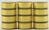 SuperBOBs #601 Yellow. L-style Bobbins. 1 Dz.