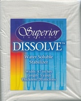 Dissolve Water Soluble Stabilizer 5 Yd. Pack.
