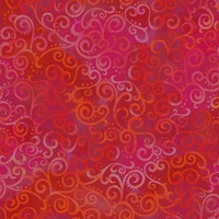 Quilting Treasures Ombre Scroll Red