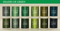 Shades Of Green (Set #3) - Magnifico 12 spool set.