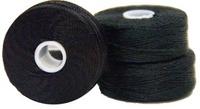 #69 Bonded Nylon G-Style Bobbins - #001 Black  1 Dz.