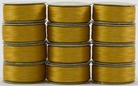SuperBOBs #602 Gold M-style Bobbins. 1 Dz.