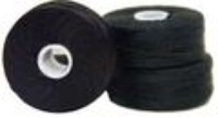 #69 Bonded Polyester Sideless M-Style Bobbins - #001 Black  1 Dz.