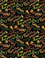 Wilmington Prints Caliente Peppers Black Multi