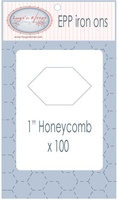 "EPP Pre-Cut Iron Ons By Hugs' N Kisses (1"" Honeycomb x 100)"