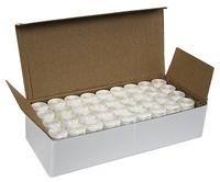 #69 Bonded Polyester M-Style Sideless Bobbins - #002 White 1 Gross Box.