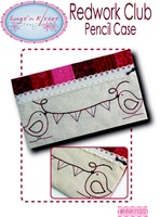 Pattern: Redwork Club-Pencil Case By Hugs 'N Kisses. (H-79)