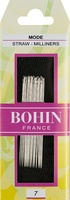 Bohin Straw/Milliners Size 7 Hand Needles
